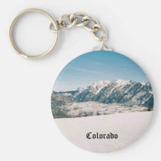 Snowy Mountain Key Chain