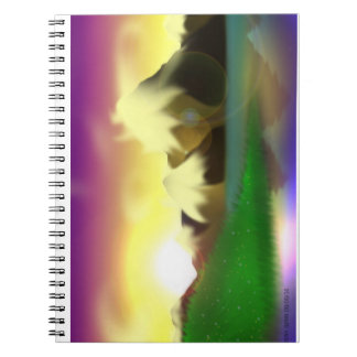 Snowy Mountain Lake Notepad Notebook