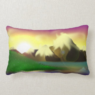 Snowy Mountain Lake Pillow