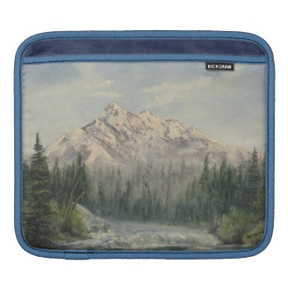 Snowy Mountain Landscape iPad Sleeve