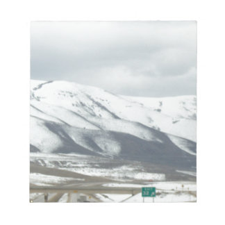 snowy mountain note pads