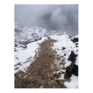 Snowy Mountain Path to Himalayan Town Postcard