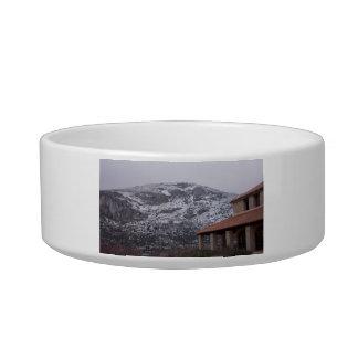 Snowy Mountain Pet Bowl
