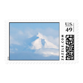 Snowy Mountain Postage Stamp