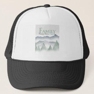 Snowy Mountain Scene - Family Trucker Hat