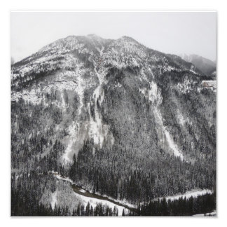 Snowy Mountain Side Photographic Print