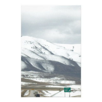 snowy mountain stationery