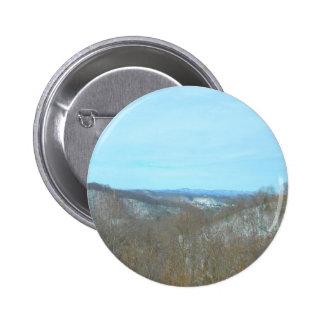 Snowy Mountain West Virginia Overlook Pinback Button