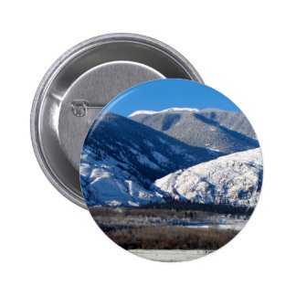 Snowy Mountains in BC Canada Pinback Button
