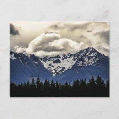 Snowy Mountains @ Lake Tekapo New Zealand Postcard postcard