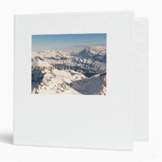 Snowy mountains landscape binder. Switzerland Binder