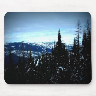 Snowy Mountains Mouse Pad