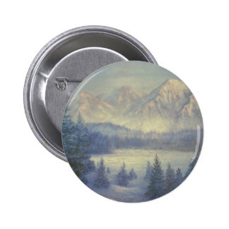 SNOWY MOUNTAINS, oil painting Button