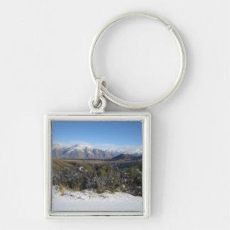 Snowy Mountains photo keychain