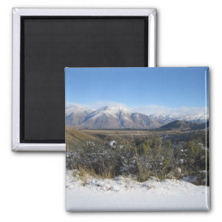 Snowy Mountains photo magnet