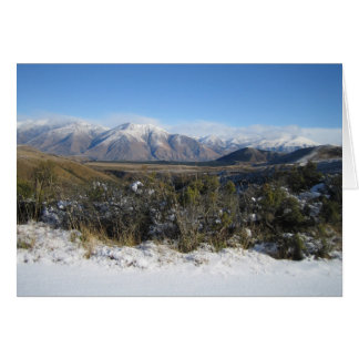 Snowy Mountains photo magnet Card