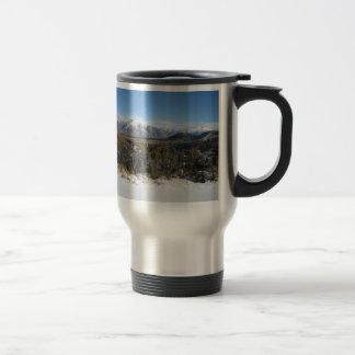 Snowy Mountains photo mug