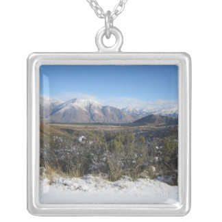 Snowy Mountains photo necklace