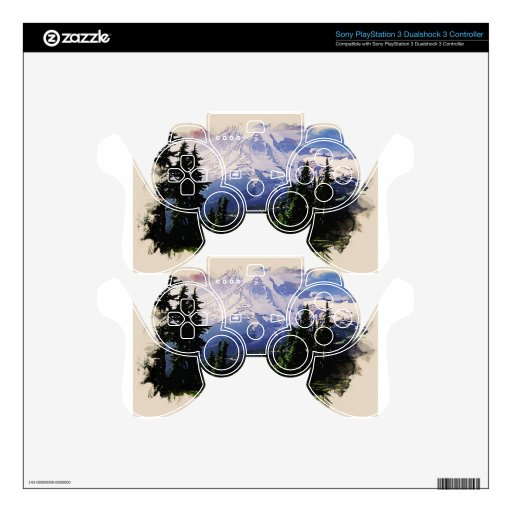 snowy mountains PS3 controller decals