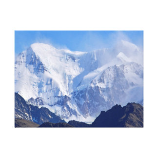 Snowy Mountaintops Canvas Print