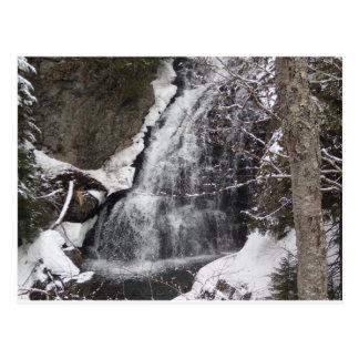 snowy moutains postcard