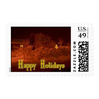 Snowy Neighborhood Stamp