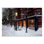 Snowy Newbury Street Greeting Card