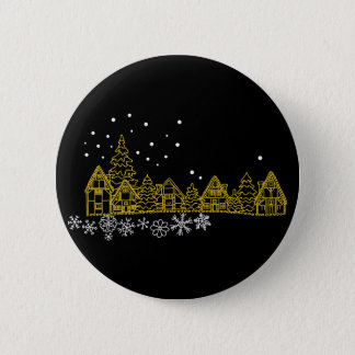 Snowy Night Button