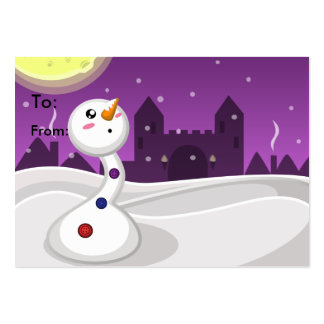 Snowy Night Gift Card Large Business Card