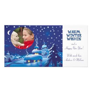 Snowy Night - Holiday Photo Card