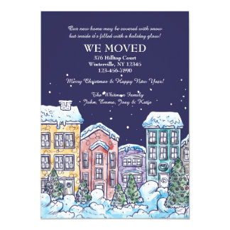 Snowy Night Moving Announcement