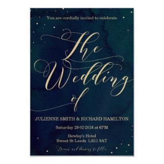 Snowy Night    Winter Wedding Invitation