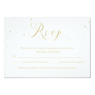 Snowy Night   Winter Wedding RSVP Card