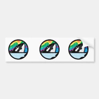 snowy orca circle design car bumper sticker