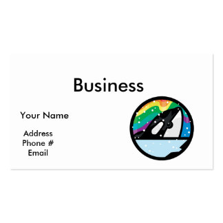 snowy orca circle design business card