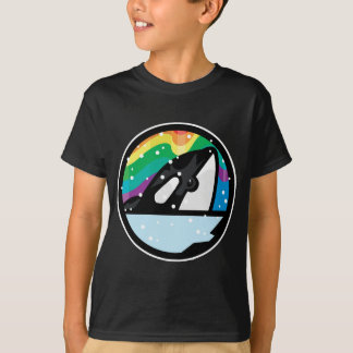 snowy orca circle design T-Shirt