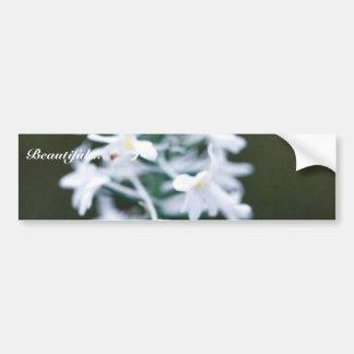 Snowy Orchid Car Bumper Sticker
