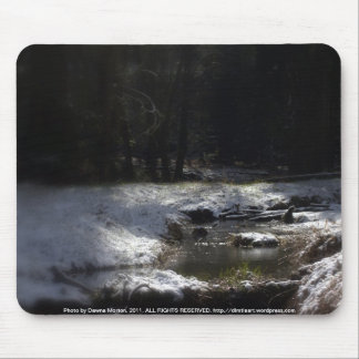 Snowy Oregon Forest, Fox Creek 12 Mouse Pad