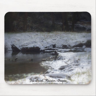 Snowy Oregon Forest, Fox Creek 2 Mouse Pad