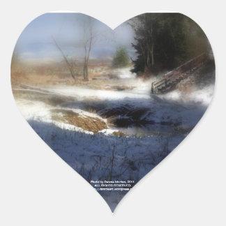 Snowy Oregon Forest, Fox Creek 7 Heart Sticker