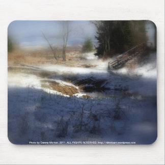Snowy Oregon Forest, Fox Creek 7 Mouse Pad
