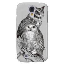Snowy Owl and Horned Owl iPhone 3 Speck Case