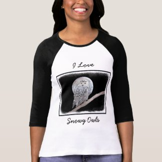 Snowy Owl and Moon T-Shirt