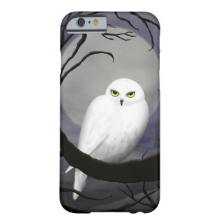 Snowy Owl at Night Barely There iPhone 6 Case