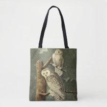 Snowy Owl Audubon Bird Art Illustration Artwork Tote Bag