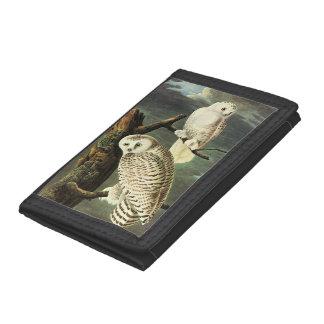 Snowy Owl - Audubon Fine Vintage Birds America Trifold Wallet