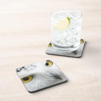 Snowy Owl Beverage Coasters