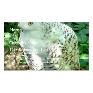 Snowy Owl Bird Business Card Template