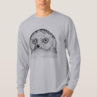 Snowy Owl Bird Vintage Wood Engraving T-Shirt