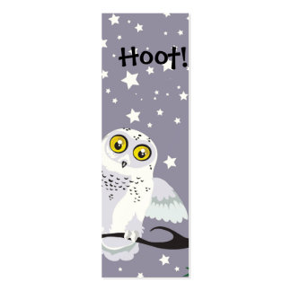 Snowy Owl Bookmark Business Card Template